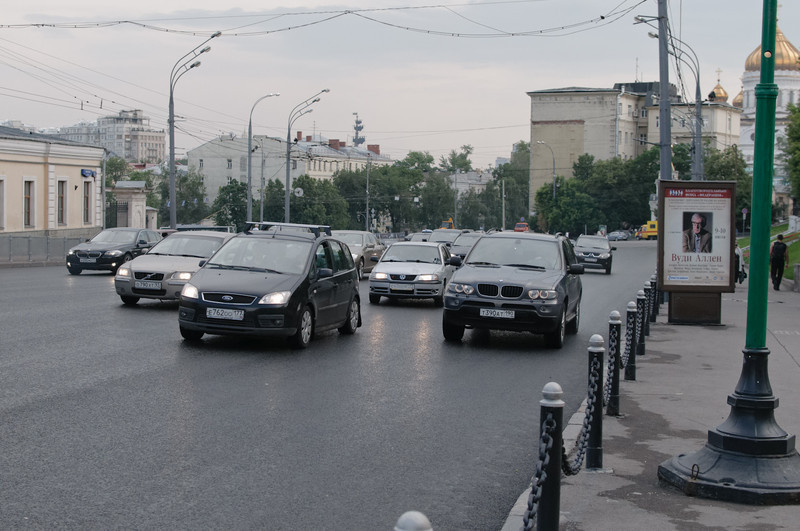 Eine 8-spurige Strasse vor dem Kreml war ein ernsthaftes Hindernis. Wie kommt man da rüber?