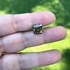 4.57ct Fancy Dark Greenish Yellow Brown Asscher Cut Diamond GIA 7