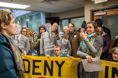 #DayAgainstDenial at Senator Al Franken's office, January 9