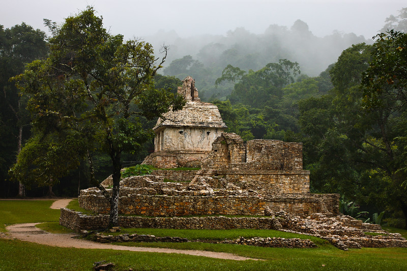 Palenque Mayan structure, Mexico