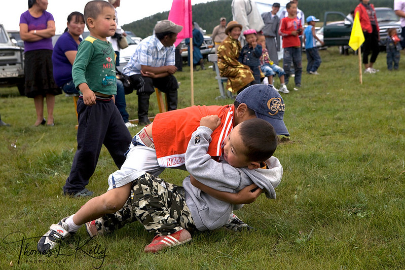Annual Naadam festival in Bunkhan Valley. Mongolia.