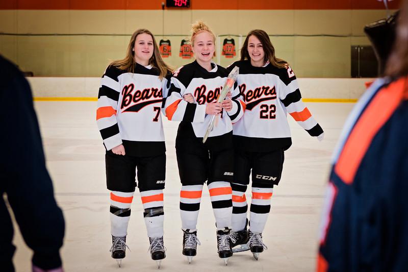 White Bear Girls Hockey Senior Night Pictures