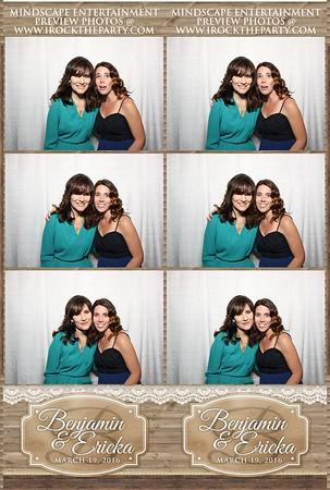 Ericka & Benjamin's Wedding - Photo Booth Pictures