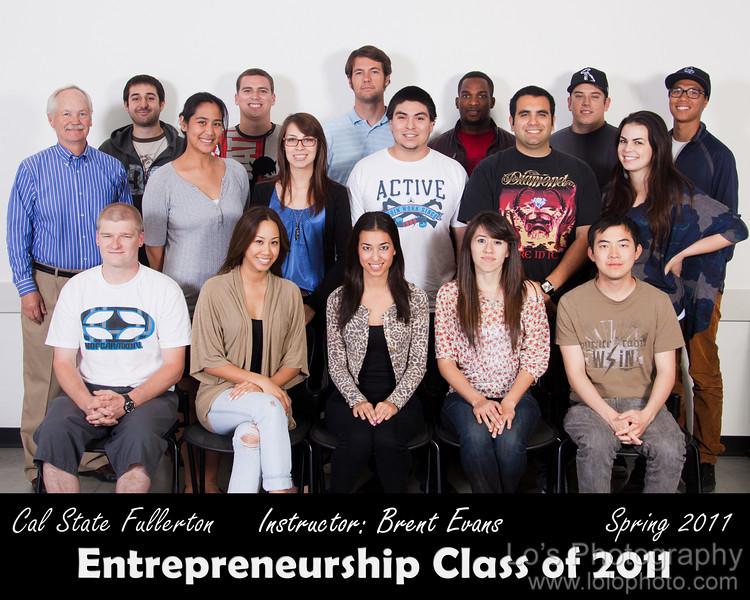 CSUF Entrepreneurship Class Spring 2011