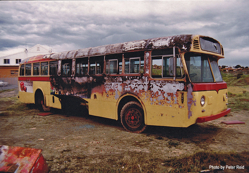 m/o 4394 Leyland Worldmaster/Freighter (11/57) (Ex MTT Adelaide 851) (Damaged by fire in depot on 5/2/83 and later scrapped) Photo taken at Northmead Depot in 1983. (Image from the Peter Reid Collection)