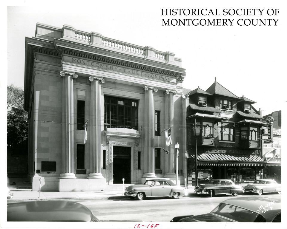 . This undated photo from the Historical Society of Montgomery County shows the Montgomery Trust building Norristown. It was later demolished to create a parking garage for the courthouse.
