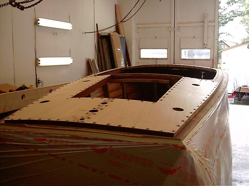plywood deck skin installed