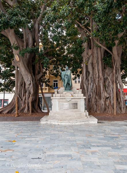 Cartagena, Spain - Banyan trees on Plaza San Francisco