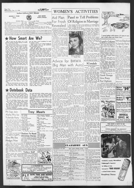 Daily Trojan, Vol. 42, No. 60, December 13, 1950