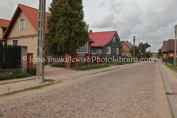 POLAND, Bialystok. Street with old grave stones. (9.2011)