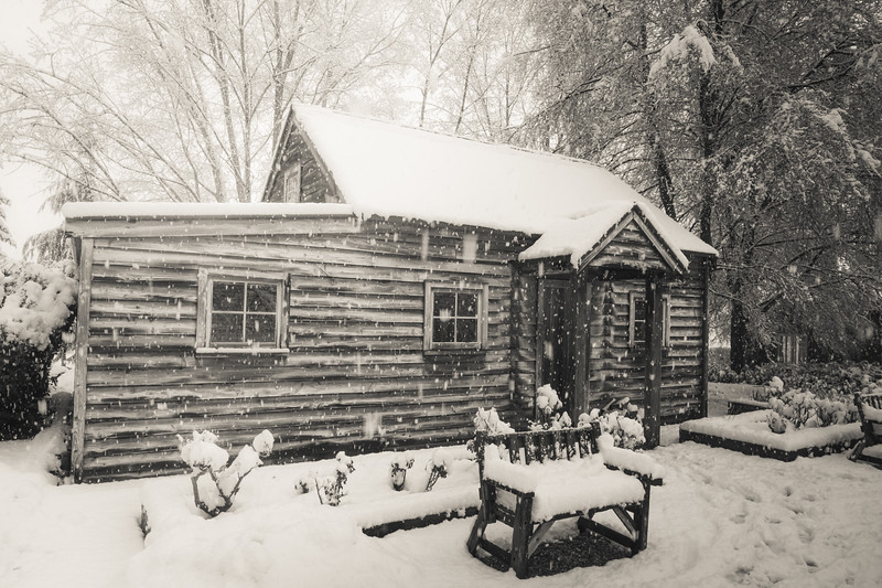 My Studio covered in Winter Snow