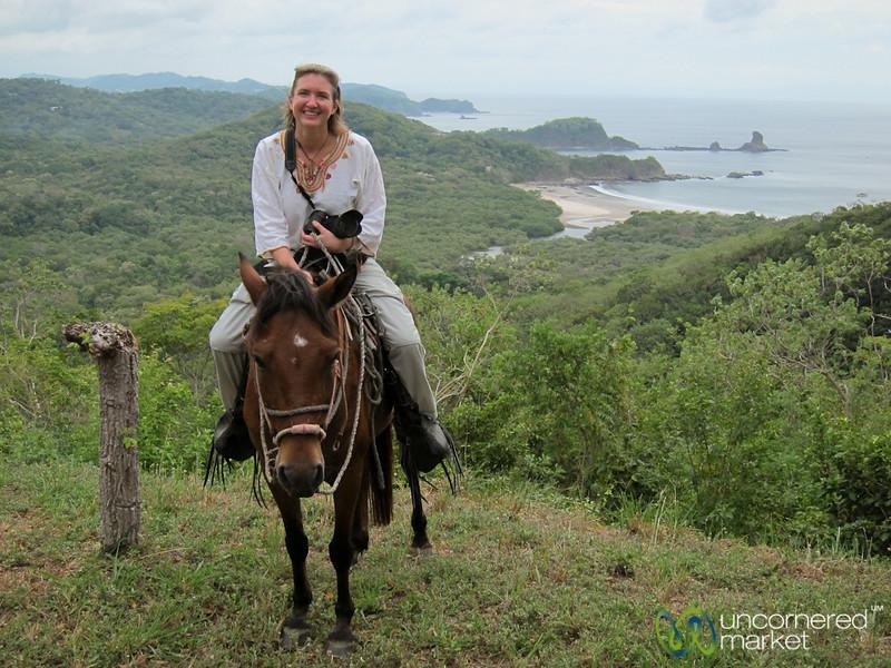 Audrey on her Horse at Overlook - Morgan's Rock, Nicaragua