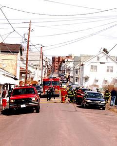 Car fire 9th & James St. Hazleton