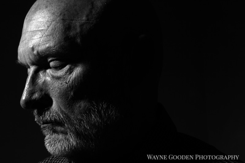 Reflective Man - Low Key Black and White