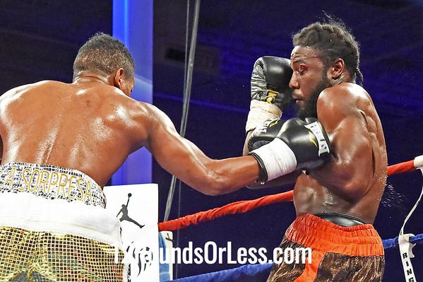 Bout #4  Yudel Jhonson, Miami, FL (by way of Cuba) vs  Lenwood Dozier, Glen Burnie, MD  Junior Middleweights