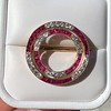 2.90ctw French Ruby and Diamond Brooch, by La Cloche Fres of Paris 2