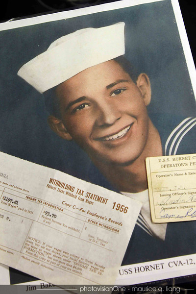 This was our host back when he served aboard the Hornet.  His takehome pay for the YEAR was $1197!