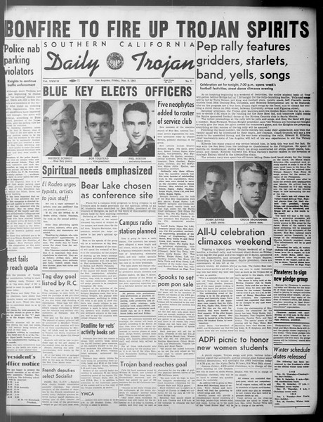 Daily Trojan, Vol. 37, No. 7, November 09, 1945