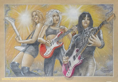 Lita, Joan and Lzzy drawing by Dean Lawrence.jpg