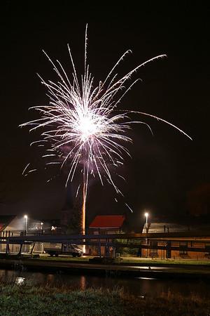 Vuurwerk in Sint-Jozef