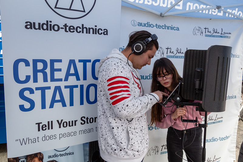 2019_02_01, Audio-Technica, CA, Creator Station, Pomona, Pomona High School, Tents
