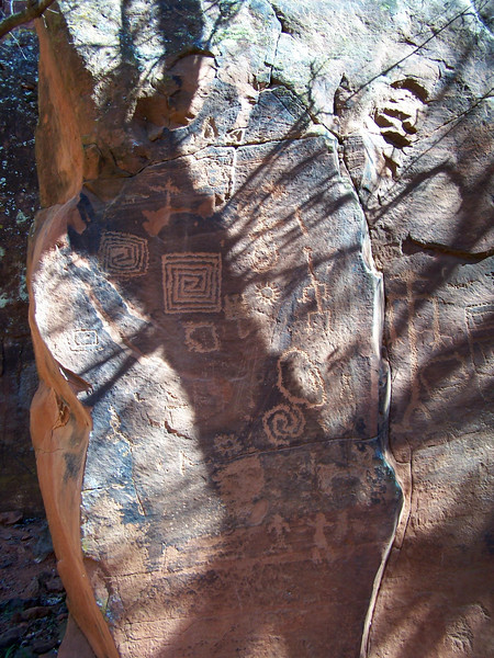 Petroglyphs at V-Bar-V Ranch.