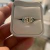 2.10ct Art Deco Peruzzi Cut Diamond Ring, GIA W-X SI2 43