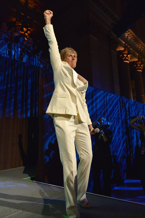 . NEW YORK, NY - OCTOBER 16:  Long-distance swim legend Diana Nyad onstage during the 34th annual Salute to Women In Sports Awards at Cipriani, Wall Street on October 16, 2013 in New York City.  (Photo by Mike Coppola/Getty Images for the Women\'s Sports Foundation)