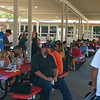 Players and parents enjoying the BBQ
