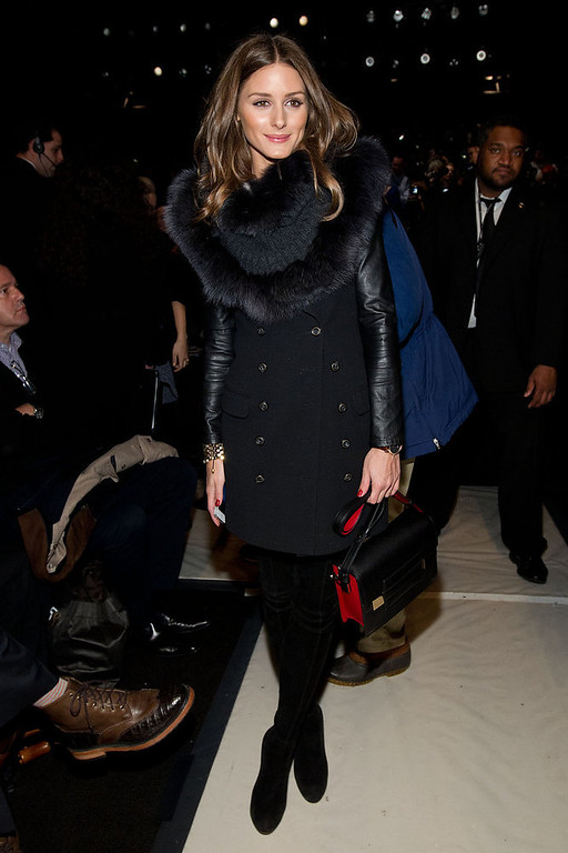 . Olivia Palermo attends the Fall 2013 Carolina Herrera Runway Show, on Monday, February 11, 2013 in New York. (Photo by Dario Cantatore/Invision/AP)