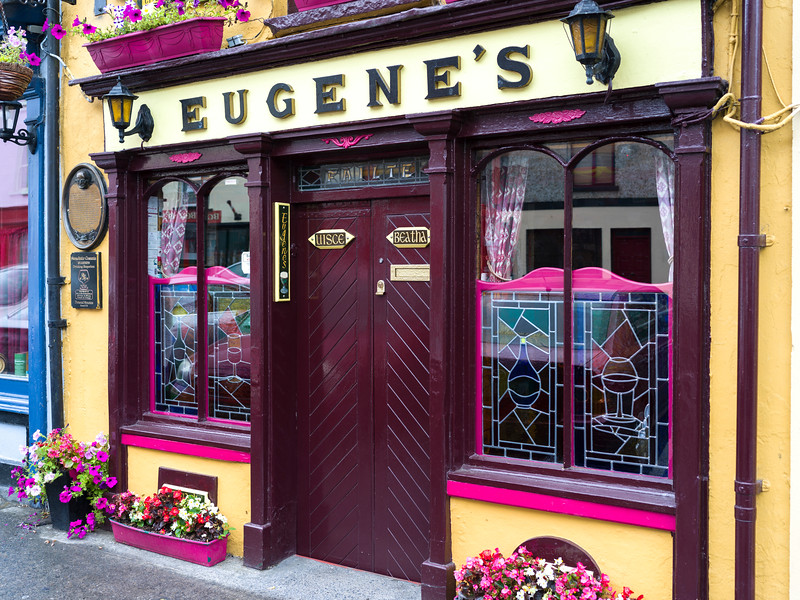 View of Eugene's Bar, Main Street, Ennistimon, County Clare, Ireland