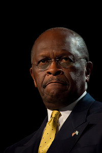 Herman Cain, Republican Presidential Candidate, speaks at the Values Voter Summit on Friday, October 7, 2011 in Washington DC. The annual gathering of more than 3,000 Christian conservatives and elected officials is a joint production of the Family Research Council and other social conservative groups. Gay marriage, abortion, religion and the upcoming presidential election dominated the discussion. (Photo by Jeff Malet)