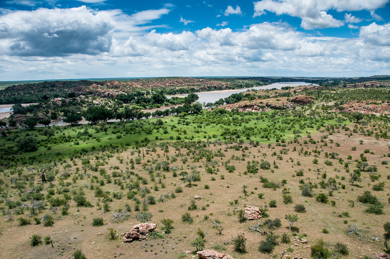The river confluence at Mapungubwe National Park, Limpopo, South Africa
