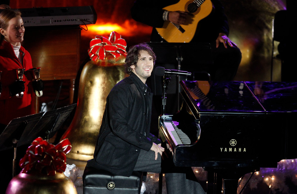 . Singer Josh Groban performs during the 78th annual Rockefeller Center Christmas tree lighting ceremony Tuesday, Nov. 30, 2010, in New York. (AP Photo/Jason DeCrow)