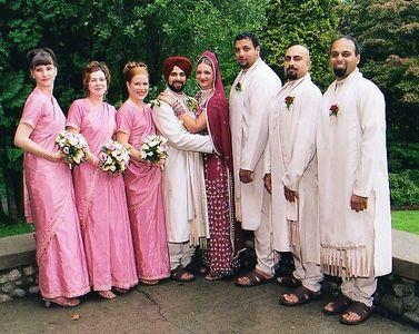 Aug. '04: Gloria & Manjinder's Wedding in Vancouver
