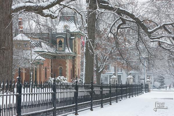 Snow in Lafayette Square Park