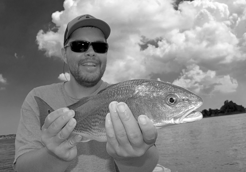 Forrest Bowers Wando River Redfish_3 BW.jpg