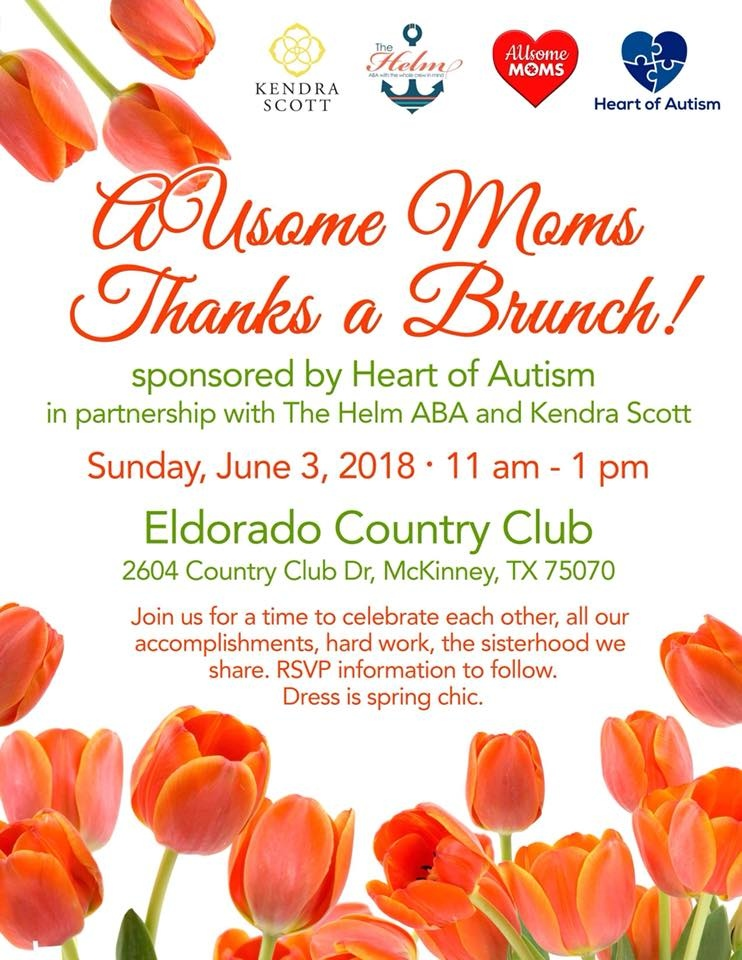 AUsome Moms Thanks a Brunch hosted by Heart of Autism