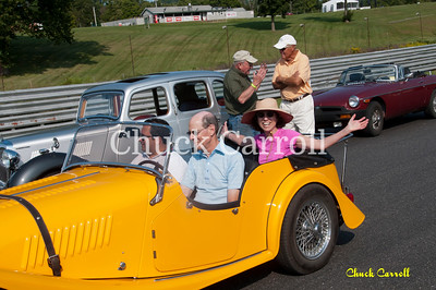 Lime Rock Historic Festival - Thursday Parade- 8-30-2012