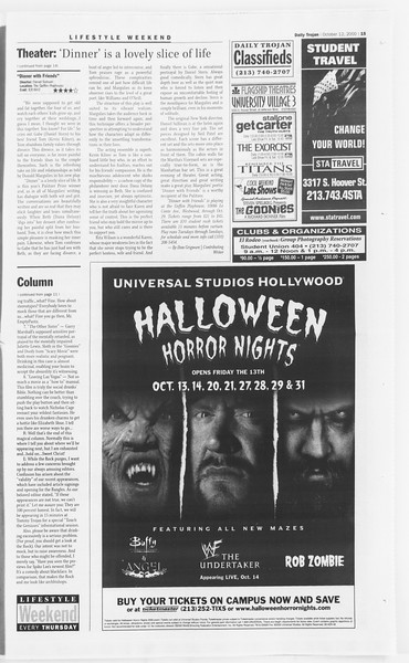 Daily Trojan, Vol. 141, No. 32, October 12, 2000