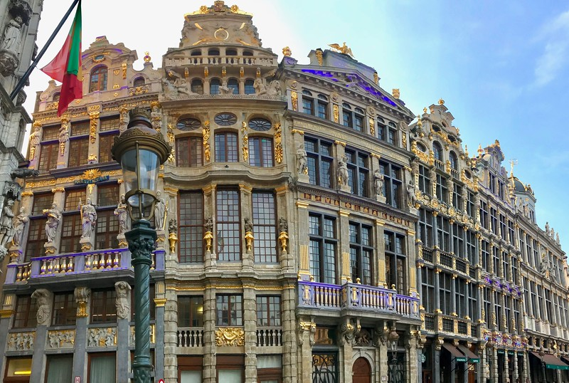 Ornate guild houses on the Grand Place - Brussels