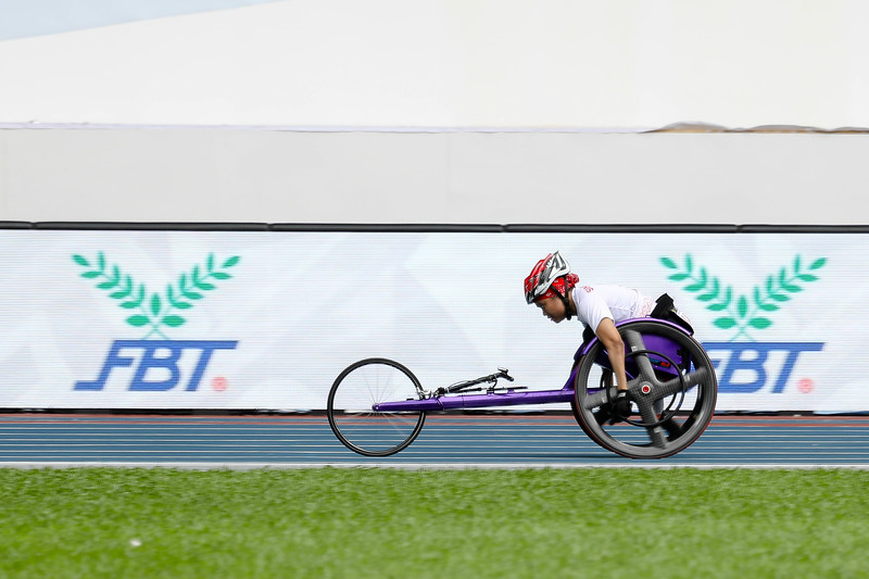 PARA ATHLETICS - NORSILAWATI BINTE SA'AT in action & representing Singapore in Women's 100m - T52/53/54 Finals at Bukit Jalil National Stadium, KL on September 20th, 2017 (Photo by Sanketa Anand)