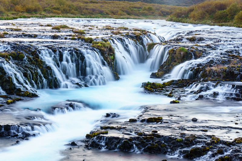 Bruarfoss, a beautiful blue waterfall not far from Reykjavik.
