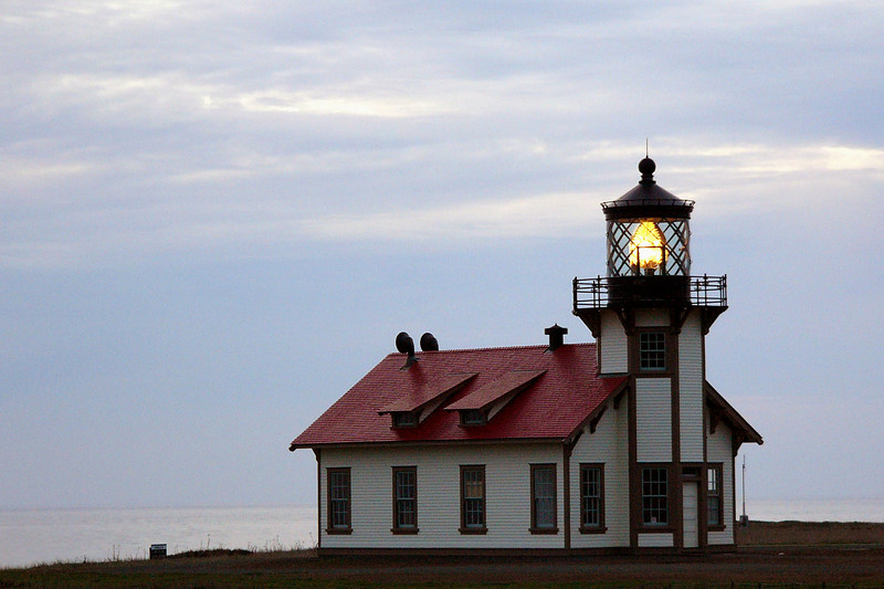 The lighthouse in the waning light.