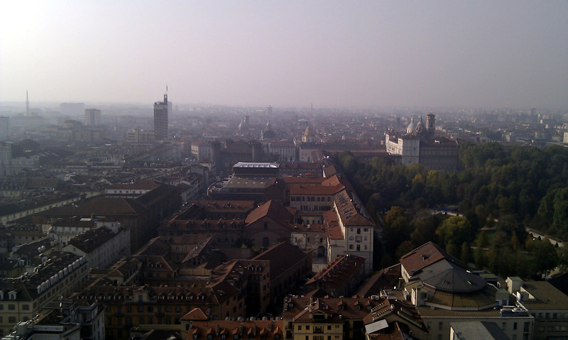 View over Turin from the top of the Museo Nazionale del Cinema