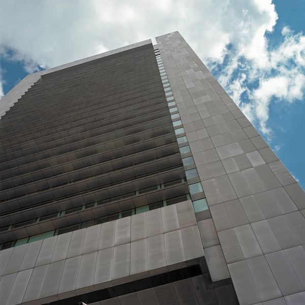 Boston Federal Reserve Building - I'm not quite sure what to make of this rather ominous, rather tall concrete building.