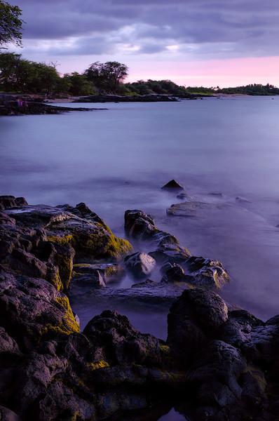 Lava rocks at sunset - Anaehoomalu Bay - Hawai'i