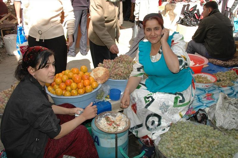 Market Women Sharing Kurtob - Dushanbe, Tajikistan