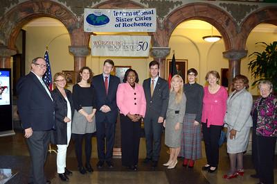 Mayor Warren hosts  50th anniversary  of  Wurzburg - Rochester sister cities. 10/8/2014