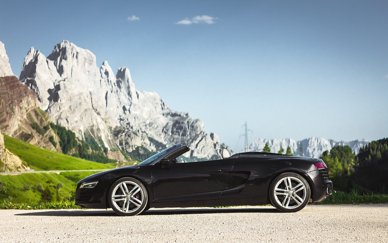 Driving the Alps in an R8